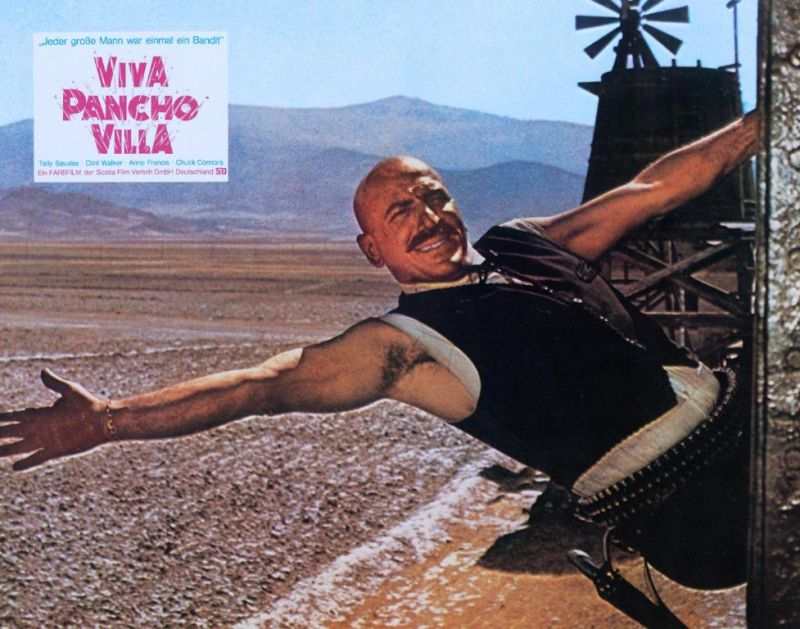 Pancho Villa Film Poster Starring Telly Savalas