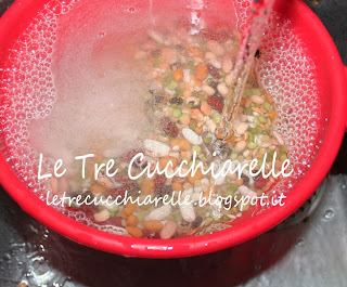 zuppa di legumi e cereali con pentola bionatural