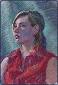 Pastels and Watercolor, Portraint Painting Demo
