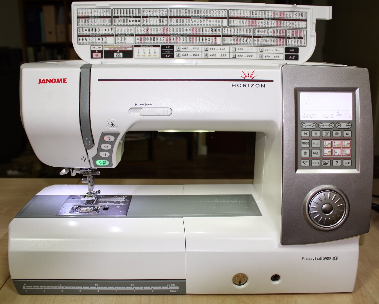 Janome horizon memory craft 8900 - This New Delightful Baby Has A Lot Of Cool Features Comes With 270 Stitches With 9mm Stitch Width It Has A Huge 11 Free Arm Work Space Which Is Awesome