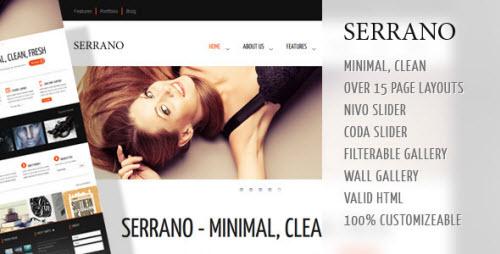 ThemeForest - Serrano - Creative Business HTML Theme