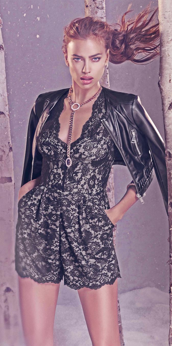 Jane Faux Leather Jacket BEBE