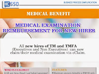 Medical Examination Reimbursement for New Hires via eClaim
