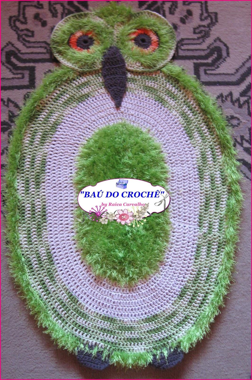 #496E30 BAÚ DO CROCHÊ : Jogo de banheiro Coruja em crochê 1064x1600 px sonhar banheiro grande