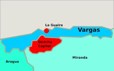 Mapa del estado Vargas Venezuela
