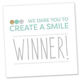 Winner at Create a Smile FB Challenge