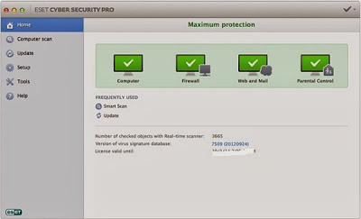 ESET Cyber Security Pro for Mac Activation Code Free for 100Days