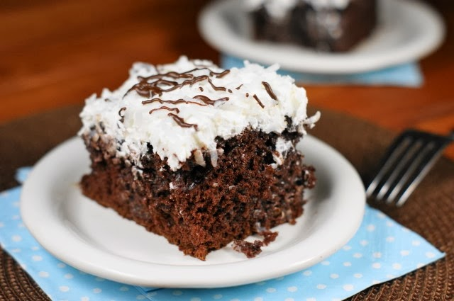 Coconut Chocolate Cake {with Coconut Whipped Cream Frosting} ~ The ...