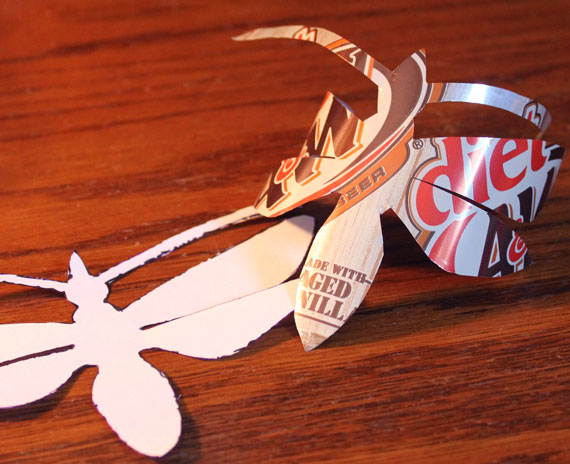 aluminum can dragonfly