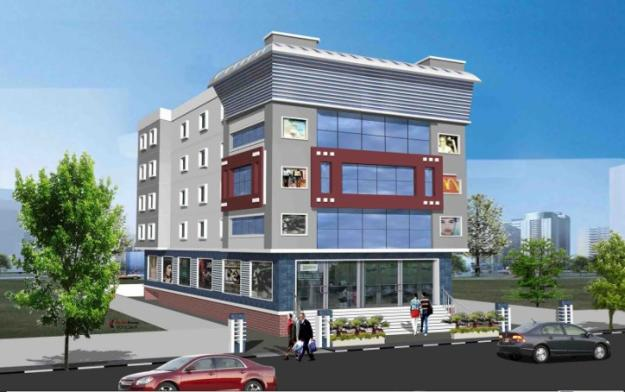 Commercial Building Elevation Drawing : Front elevation of commercial building joy studio design