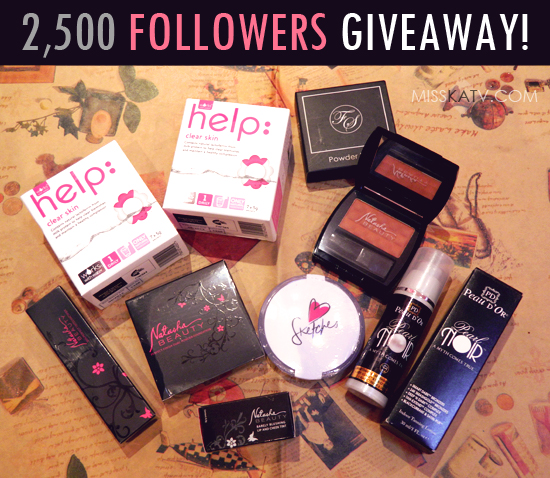 MissKatV's 2,500 Followers Giveaway
