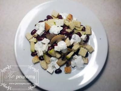 Рецепты салатов с грибами и яблоками