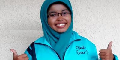 Evilita Andriani : Mahasiswi UPN Veteran pendiri Ojek Syar'ie
