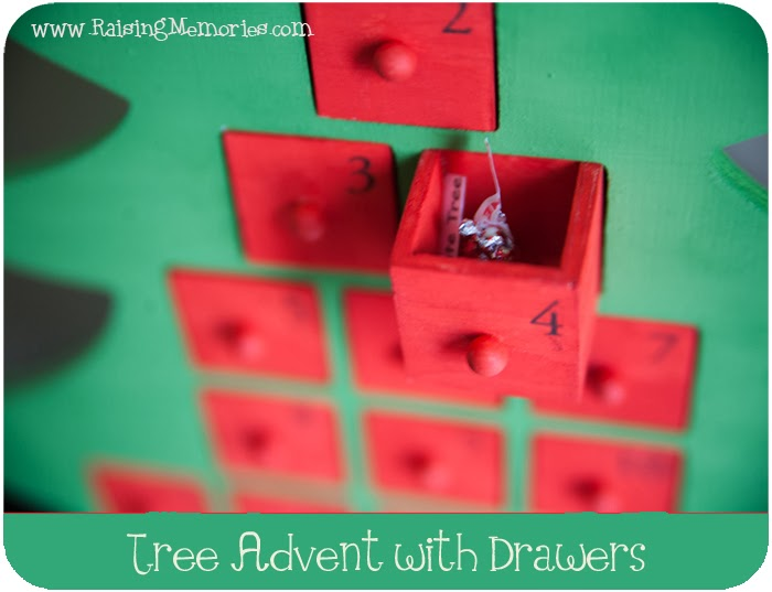 Wooden Christmas Tree Advent With Drawers