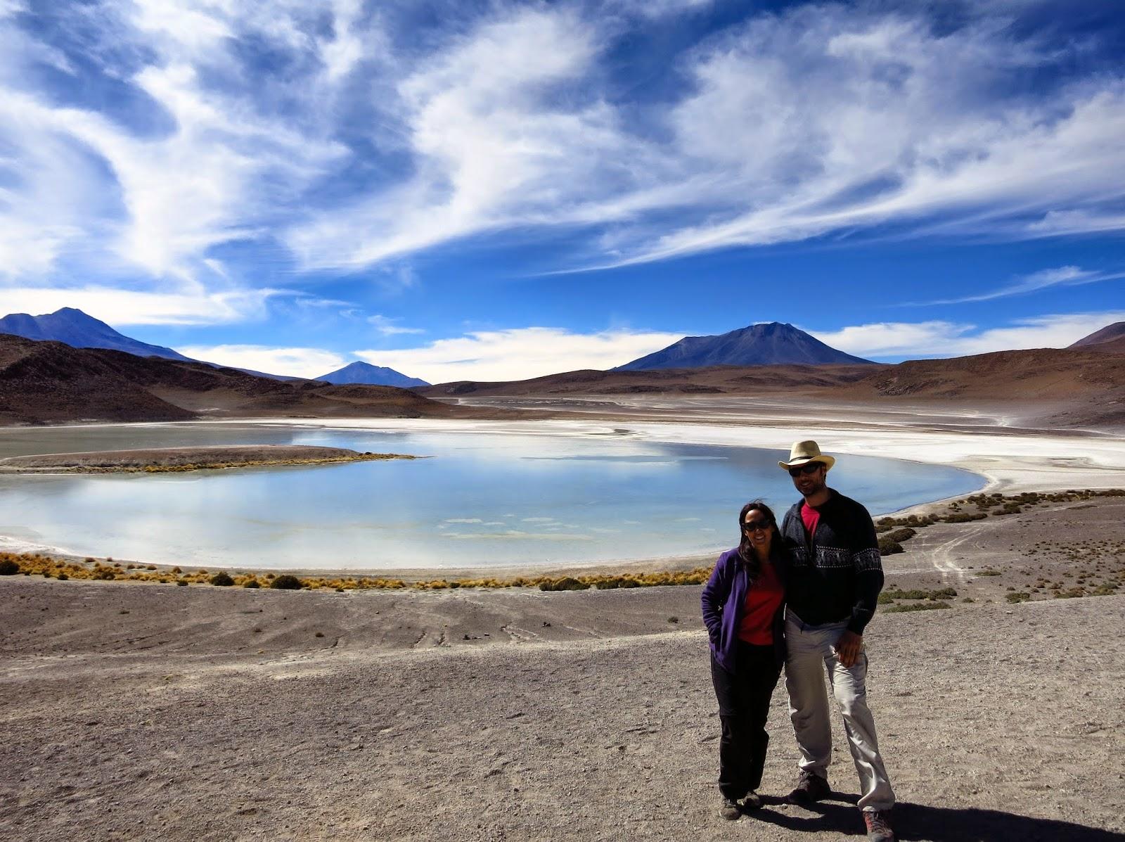 Lago en el altiplano boliviano.