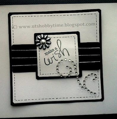 Handmade  black and white greeting card