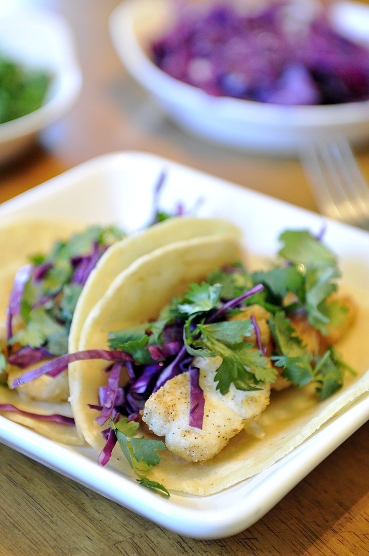 Simply gourmet fish tacos and the best sauce for Fish taco recipe