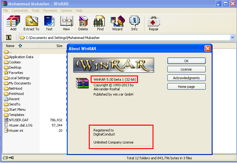 WinRAR Version 5.0 beta 1 32 Bit 64 Bit With Crack Free Download