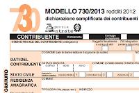 Istruzioni 730 anno 2013
