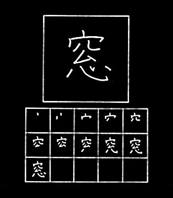 kanji jendela