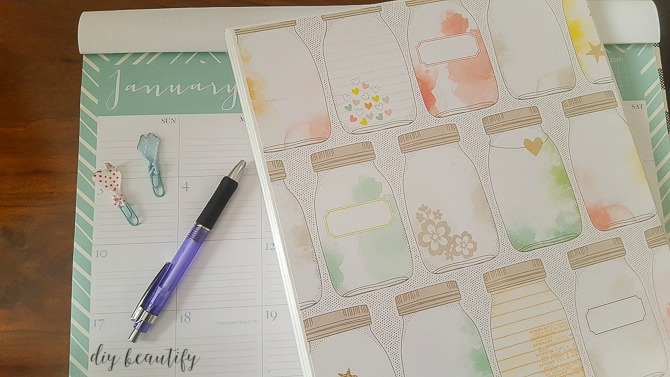 desktop calendar and custom binder