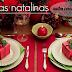Mesas Decoradas para o Natal! Veja ideias e dicas para deixar sua mesa linda!