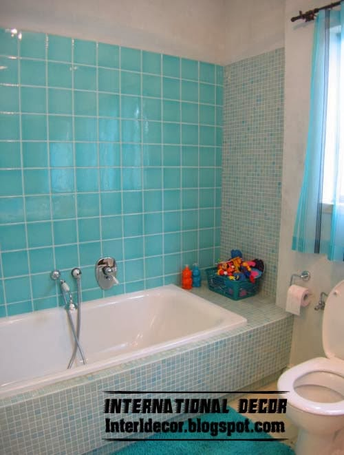 Turquoise bathroom unusual turquoise bathroom themes designs ideas - Turquoise bathroom floor tiles ...