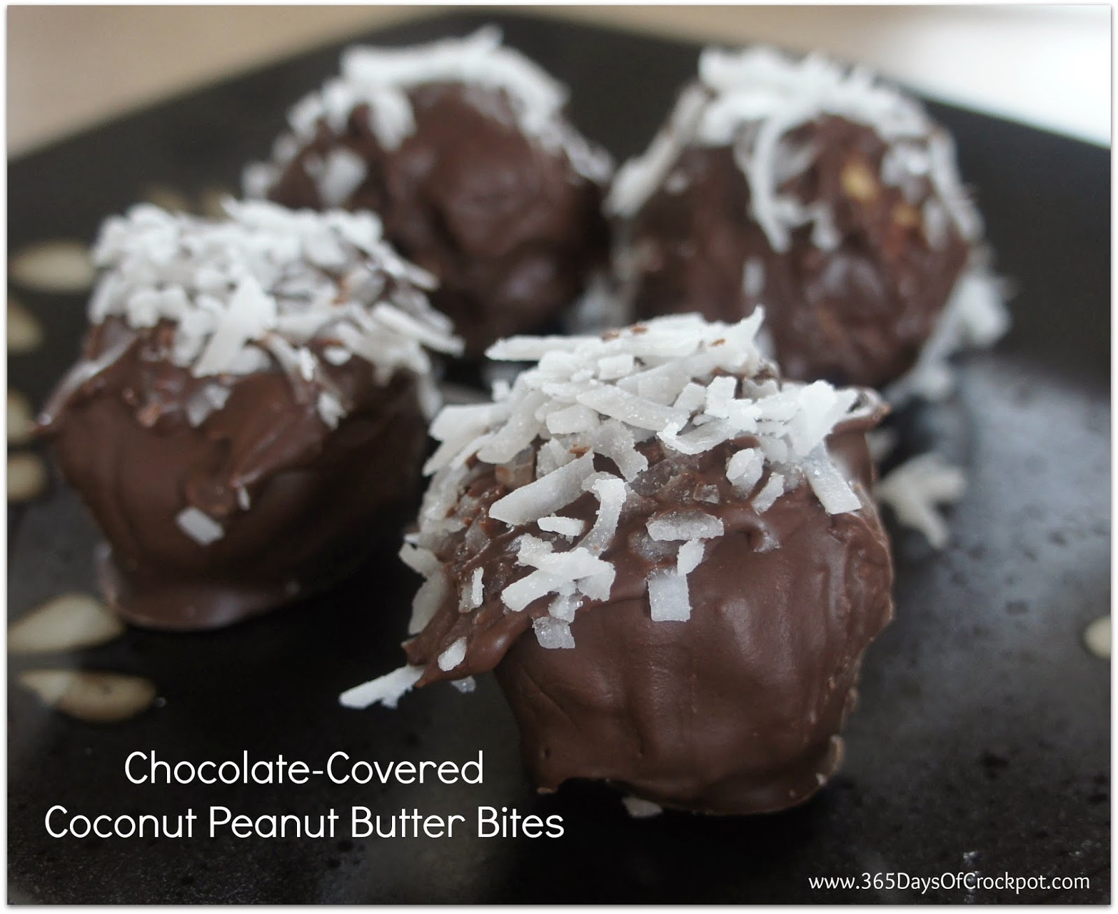 Recipe for Chocolate-Covered Coconut Peanut Butter Bites - 365 ...