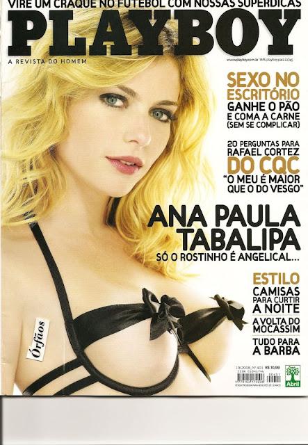 Confira as fotos da apresentadora, Ana Paula Tabalipa, capa da Playboy de outubro de 2008!