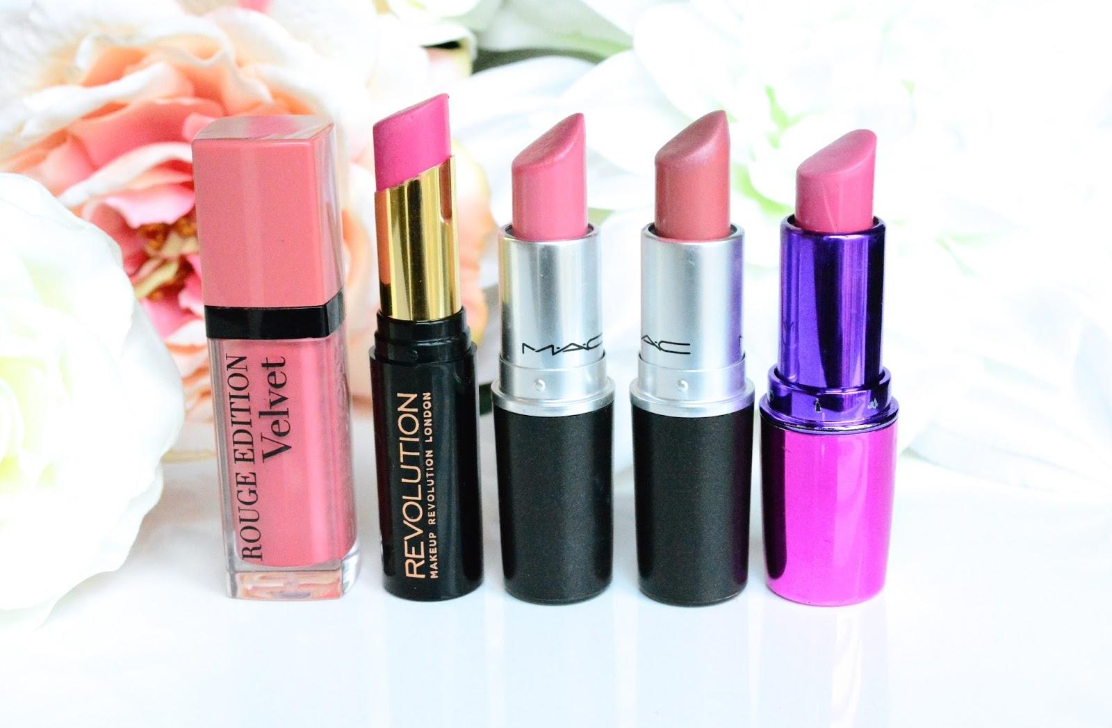 Spring Lipsticks, Mac Brave, Mac Lovelorn, Makeup Revolution, Ken Will Want Me, She's Up All Night, Bourjois Rouge Edition Velvet