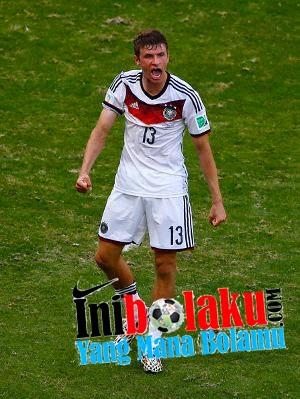 Thomas Muller Dapatkan Title Pencetak Hatrick Pertama Di Piala Dunia 2014