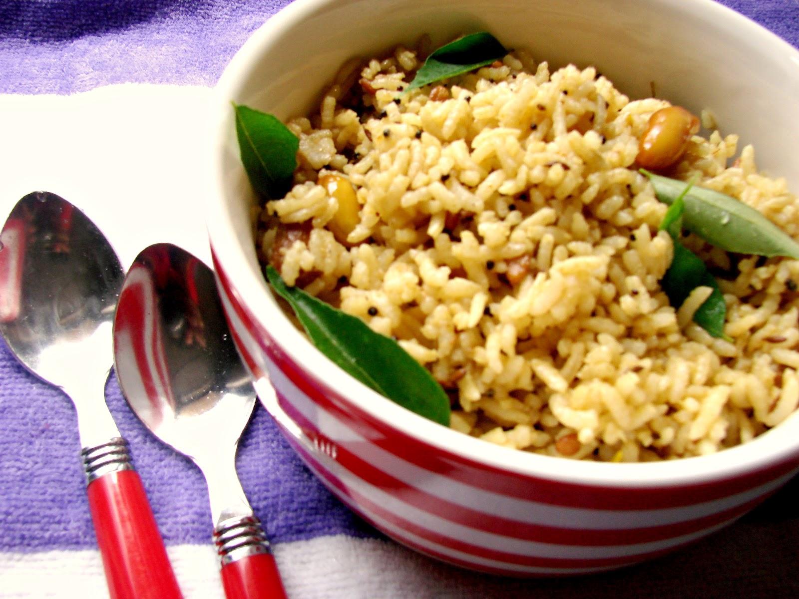 veggie delights: Pulihora (Tamarind rice)