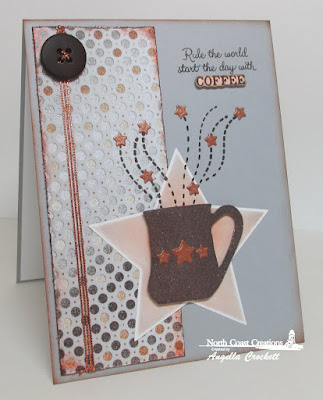 North Coast Creations What's Brewin'?, ODBD Custom Sparkling Stars Dies, ODBD Winter Collection Designer Paper, Card Designer Angie Crockett