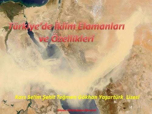 T�rkiye'nin �klim Elemanlar� ve �zellikleri - Sunu