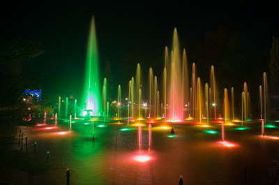fountain light and sound show at brindavan gardens