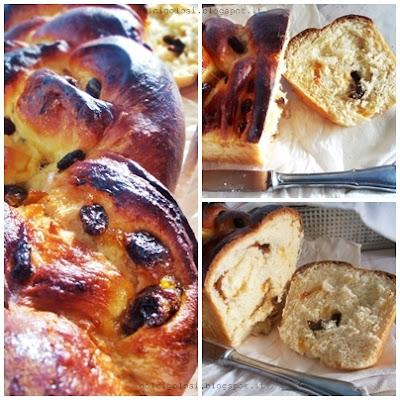 Dolci golosità: pan brioche con marmellata e uvetta