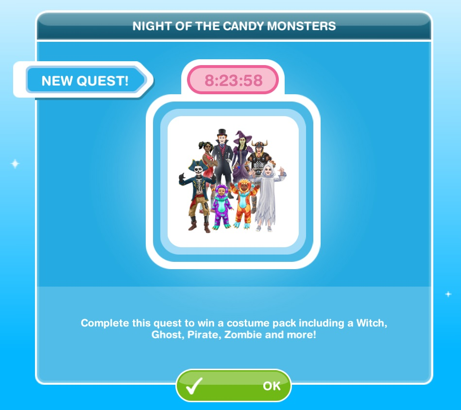 The sims freeplay long hairstyle - Event Quest Night Ofthe Candy Monsters