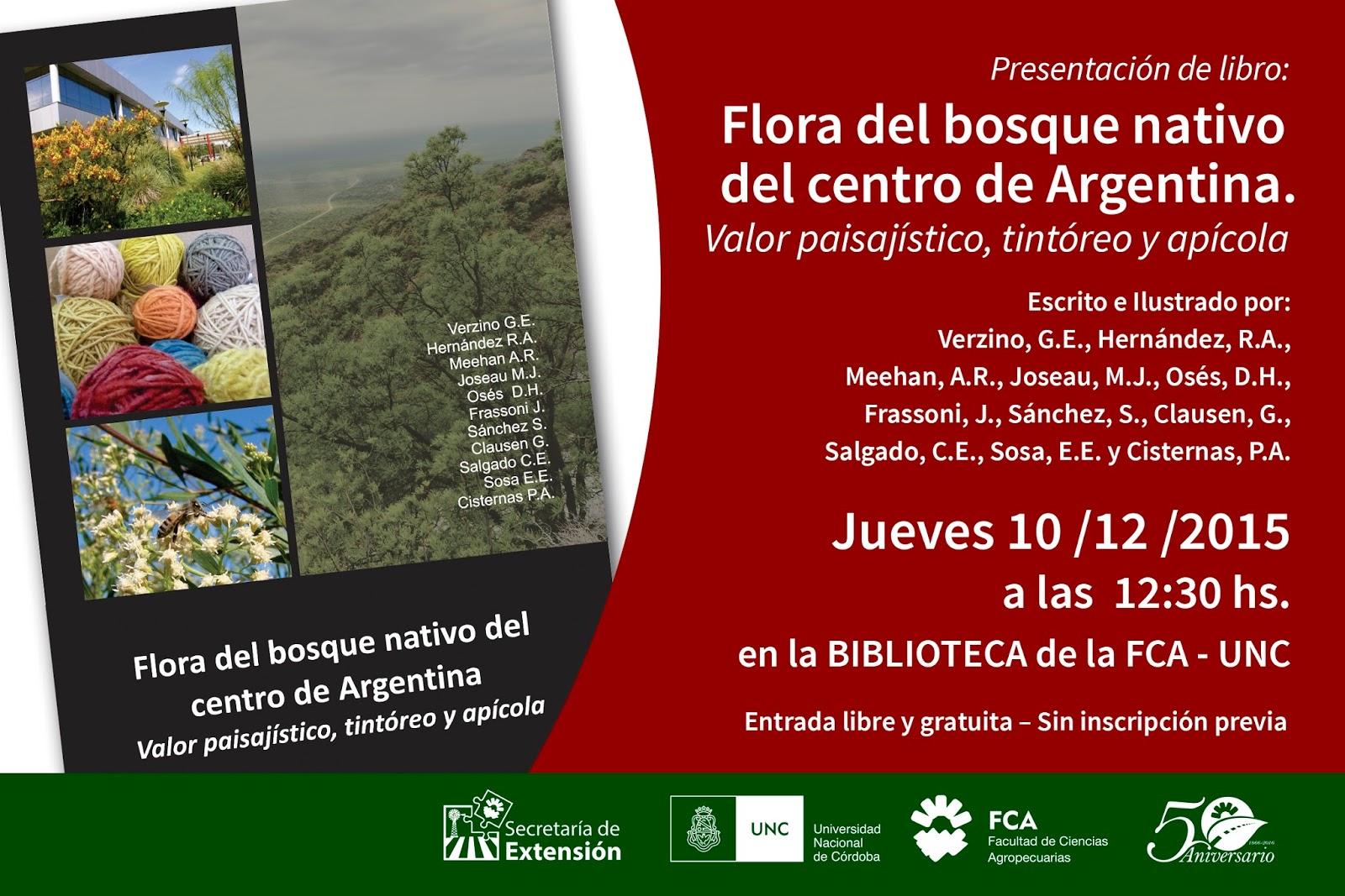 C rdoba forestal presentaci n del libro flora del bosque for Libro viveros forestales