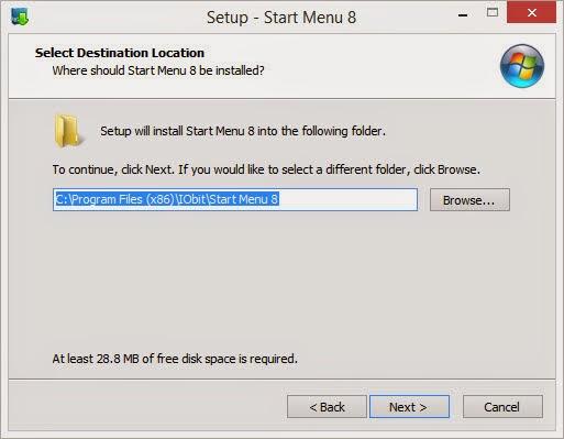 ขั้นที่ 4 เลือกที่เก็บโปรแกรมเปลี่ยน Start Menu บน Windows 8.1