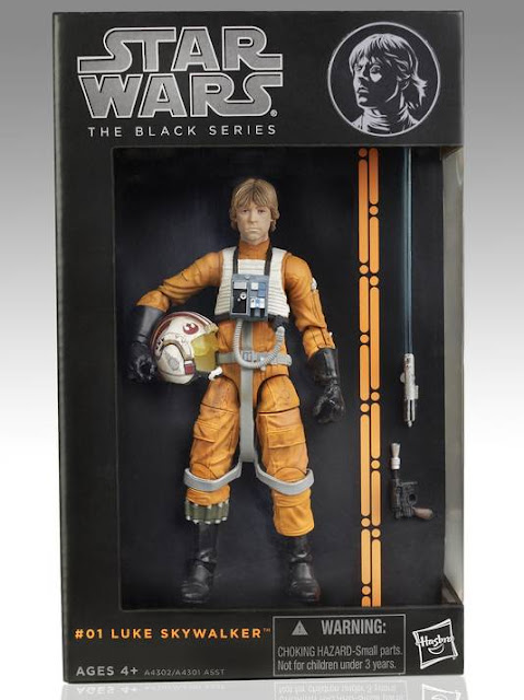 "Hasbro Star Wars The Black Series 6"" Luke Skywalker in X-Wing Gear figure in Packaging"