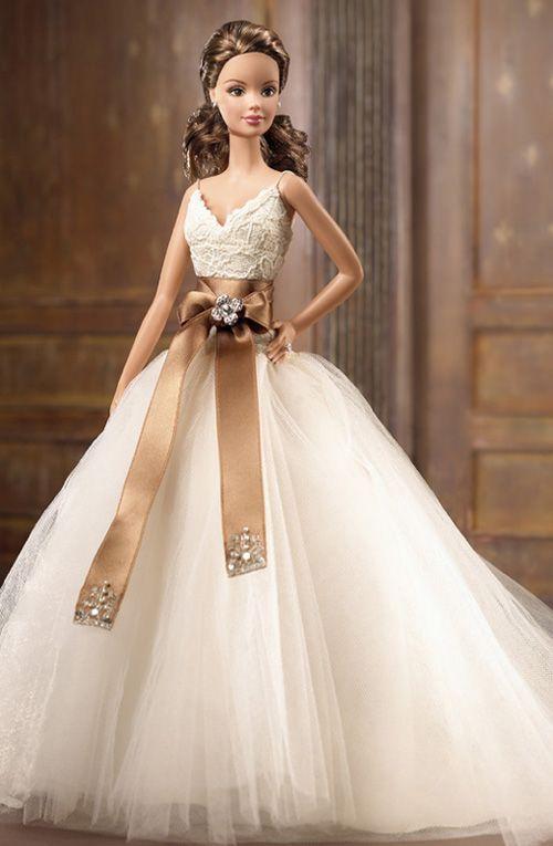 Barbie con vestido de novia