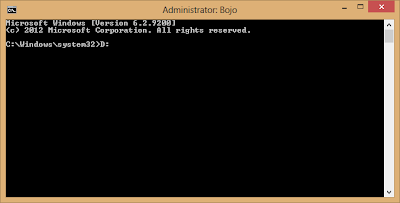 This is the appearance of Command Prompt