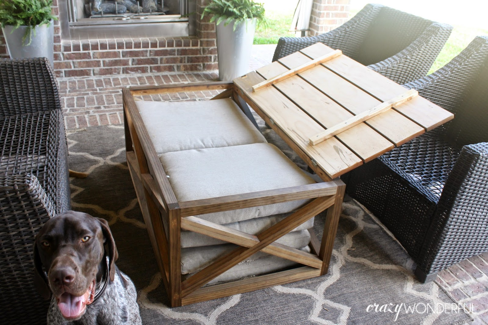 DIY outdoor coffee table | with storage - Crazy Wonderful