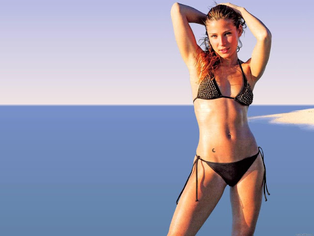 Elsa Pataky sexy in red swimsuit  fashion