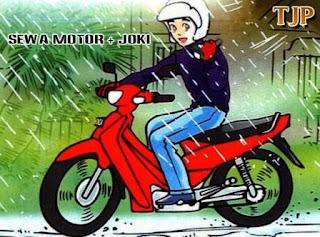 Sewa motor dengan joki
