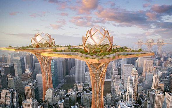 """Arquitetura futurista: City in the Sky ou """"cidade no céu"""" 2"""
