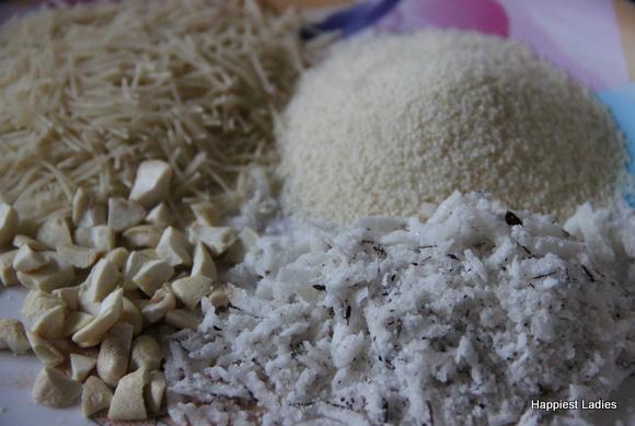 vermicelli semolina coconut  kheer ingredients