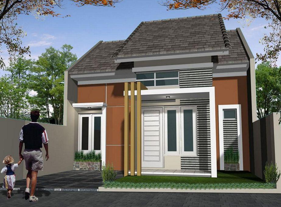 contoh rumah minimalis sederhana terlihat depan