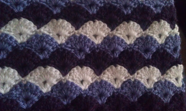 How To Shell Stitch Blanket Crochet Pattern Vtwctr