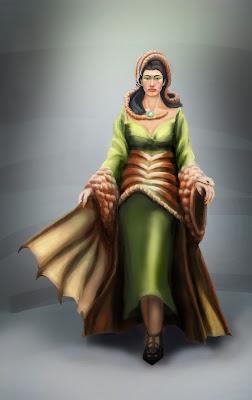 Morgana Character Design crimson daggers